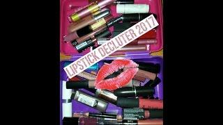 Lipstick decluter 2017| part one