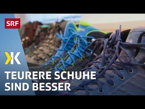 Wanderschuhe im Test: Günstige überzeugen wenig |   2017 | SRF Kassensturz
