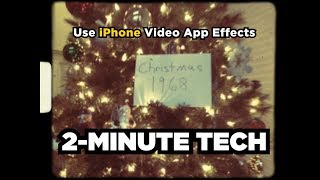 Why Filmmakers Should Use iPhone Video App Effects