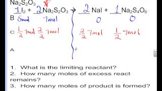 Limiting Reactants Moles