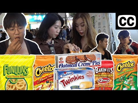 KOREANS TRY TWINKIES AND MORE (WITH BEER)