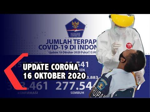 update corona oktober positif sembuh meninggal