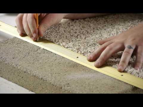 How to Install Carpet Transition Trim Between Concrete & Carpet Flooring : Carpeting Tips