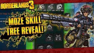 Borderlands 3 | Moze The Gunner Full In-Game Skill Tree Reveal!