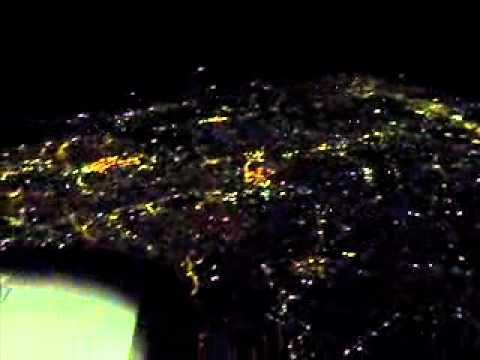 Vista aérea da cidade de São paulo ao término da Libertadores 2012