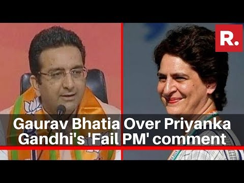 Download BJP's Gaurav Bhatia Speaks To Republic TV Over Priyanka Gandhi's 'Fail PM' Comment Mp4 HD Video and MP3