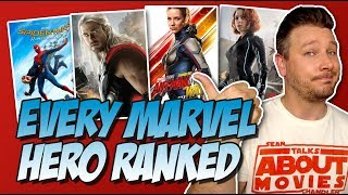 All 31 MCU Heroes Ranked From Worst to Best (w/ The Wasp from the Marvel Cinematic Universe)