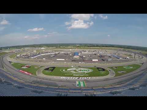 Check out this year's Quaker State logo being painted in the field before the big race.