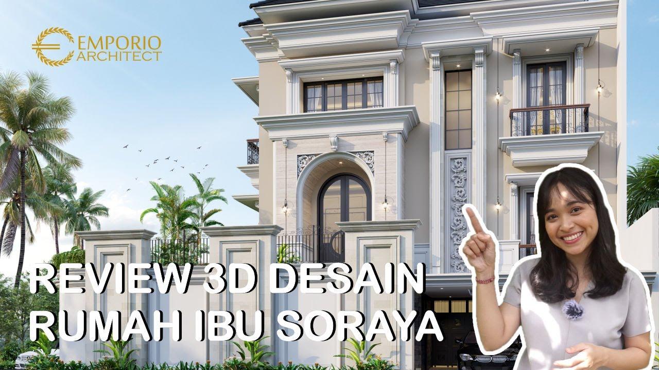 Video 3D Mrs. Soraya Classic House 2.5 Floors Design - Bekasi, Jawa Barat