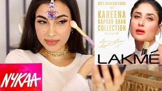 TRYING INDIAN/PAKISTANI MAKEUP | NYKAA, LAKME MAKEUP BRAND - Download this Video in MP3, M4A, WEBM, MP4, 3GP