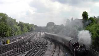 preview picture of video 'Steam on the Met (May 2013) Prairie No.5521 and Sarah Siddons double headed working'
