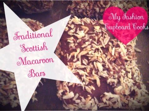 Traditional Scottish Macaroon Bars // NO BAKE recipe