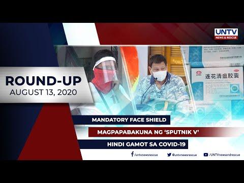 [UNTV]  UNTV NEWS ROUNDUP: Mga balitang dapat mong malaman (August 13, 2020)
