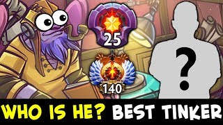 Who is he? FIRST 25 level — BEST Tinker in Dota