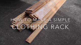 DIY PALLET CLOTHING RACK/WARDROBE...ISOLATION DIY IDEAS...QUARATINE DIY IDEAS