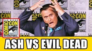 Bruce Campbell ASH VS EVIL DEAD Comic Con 2016 Interview
