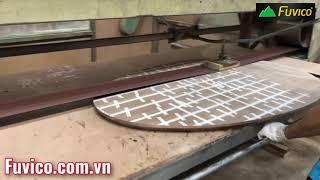 Máy chà nhám băng nằm Woodmaster | Chà mặt bàn vển rộng | WM-250S