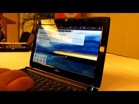 Fujitsu Lifebook MH330 Meego Mini-Notebook Demo