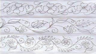 Hand Embroidery Pattern,Hand Drawing Design,Nakshi Katha Design 163,কাঁথার ডিজাইন,हाथ ड्राइंग डिजाइन