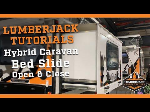 Hybrid Caravan Slide Out Bed Open & Close