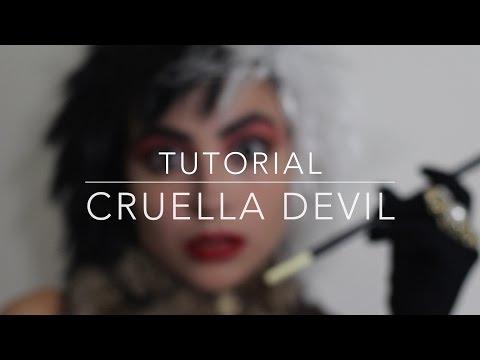 Cruella DeVil Maquillaje y Disfraz/ makeup look