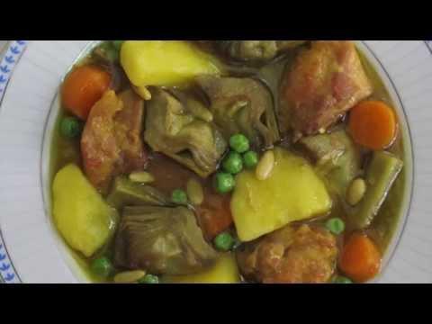 GUISO DE POLLO CON ALCACHOFAS (Chicken Stew with Artichokes)