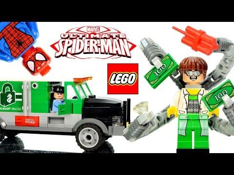 Vidéo LEGO Marvel Super Heroes 76015 : Le braquage du camion par le Docteur Octopus