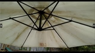How to replace or Remove Patio Parasol Cover