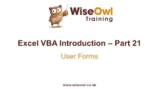 Download Youtube: Excel VBA Introduction Part 21 - User Forms