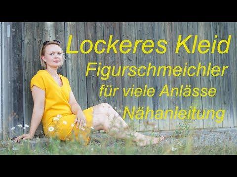 Kleid V-Ausschnitt - FIGURSCHMEICHLER - Nähanleitung für Fortgeschrittene