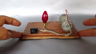 Free Energy Project Easy - How To Make Free Energy Light Bulb 12V With DC Motor