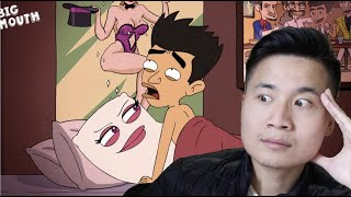 Innocent Asian Guy React to The Grossest Moments in BIG MOUTH Reaction