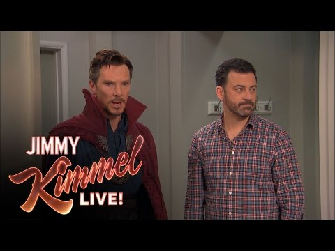 Dr. Strange Banishes A Kid To Hell When Jimmy Kimmel Hires Him For A Birthday Party