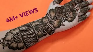 Rakhi Special | Easy Arabic Henna Design | Beautiful Front Hand Mehndi | #112 Zara Mehendi Art