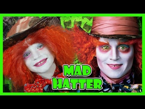 MAD HATTER MAKEUP TUTORIAL FOR KIDS | We Are The Davises