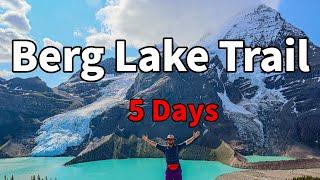 Most Beautiful Hike In Canada | Berg Lake Trail |