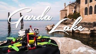 Flying over Garda Lake, Italy