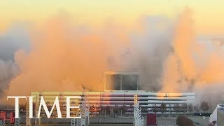 The Georgia Dome Imploded Today: Watch The Mesmerizing Video, It Took 240 Tons Of Explosives   TIME