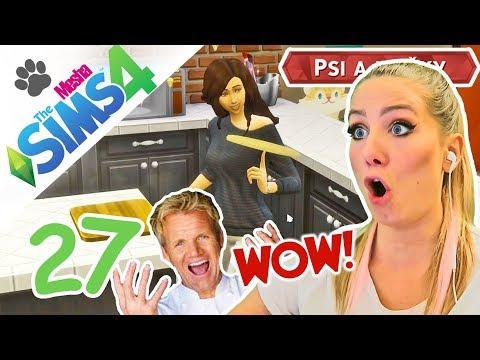 Katherine jako Gordon Ramsay v Ďábelské kuchyni ● The Sims 4 - Psi a Kočky 27