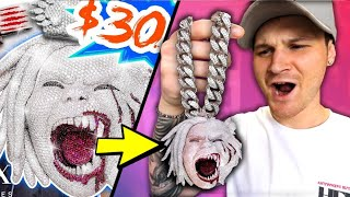 I Bought THE BEST Fake Rapper Chain EVER!! (TEE GRIZZLEY'S $300k PENDANT From ICEBOX)