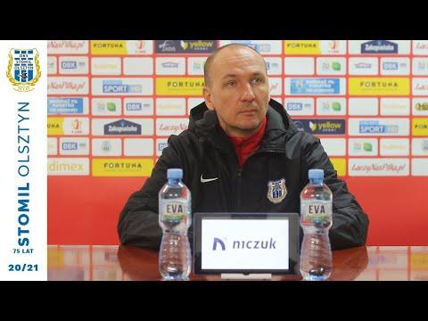 Adam Majewski przed meczem Stomil Olsztyn - ŁKS Łódź