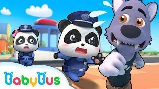 Panda Policeman Patrol Team | Super Rescue Team | Monster Police Car | BabyBus
