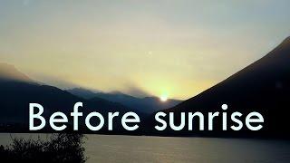 preview picture of video 'Vor dem Sonnenaufgang am Lago di Lugano. Magische Momente'