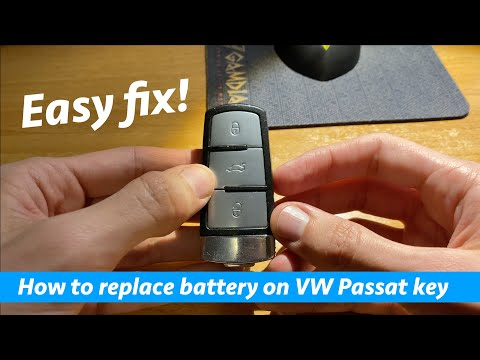 How to replace Volkswagen Passat B6/B7 key battery in 1 minute!