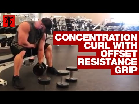 Concentration Curl with Offset Resistance Grip
