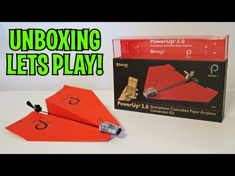 UNBOXING & LETS PLAY – PowerUp 3.0 – Remote Controlled Paper Airplane! FULL RC REVIEW!