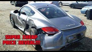 Rebuilding wrecked Porsche Cayman s bought from Copart Part 2