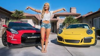 SCARING HOT GIRL IN 800HP GTR!