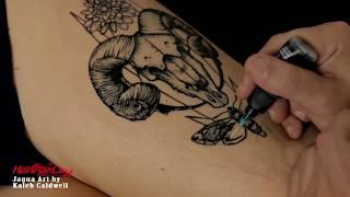 Jagua Temporary Tattoo With Stencil - Henna City