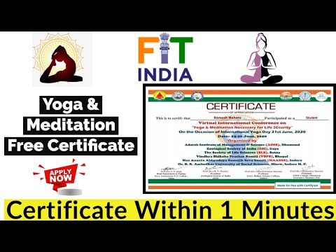Free YOGA & Meditation Certificate | Free Certificate | International ...